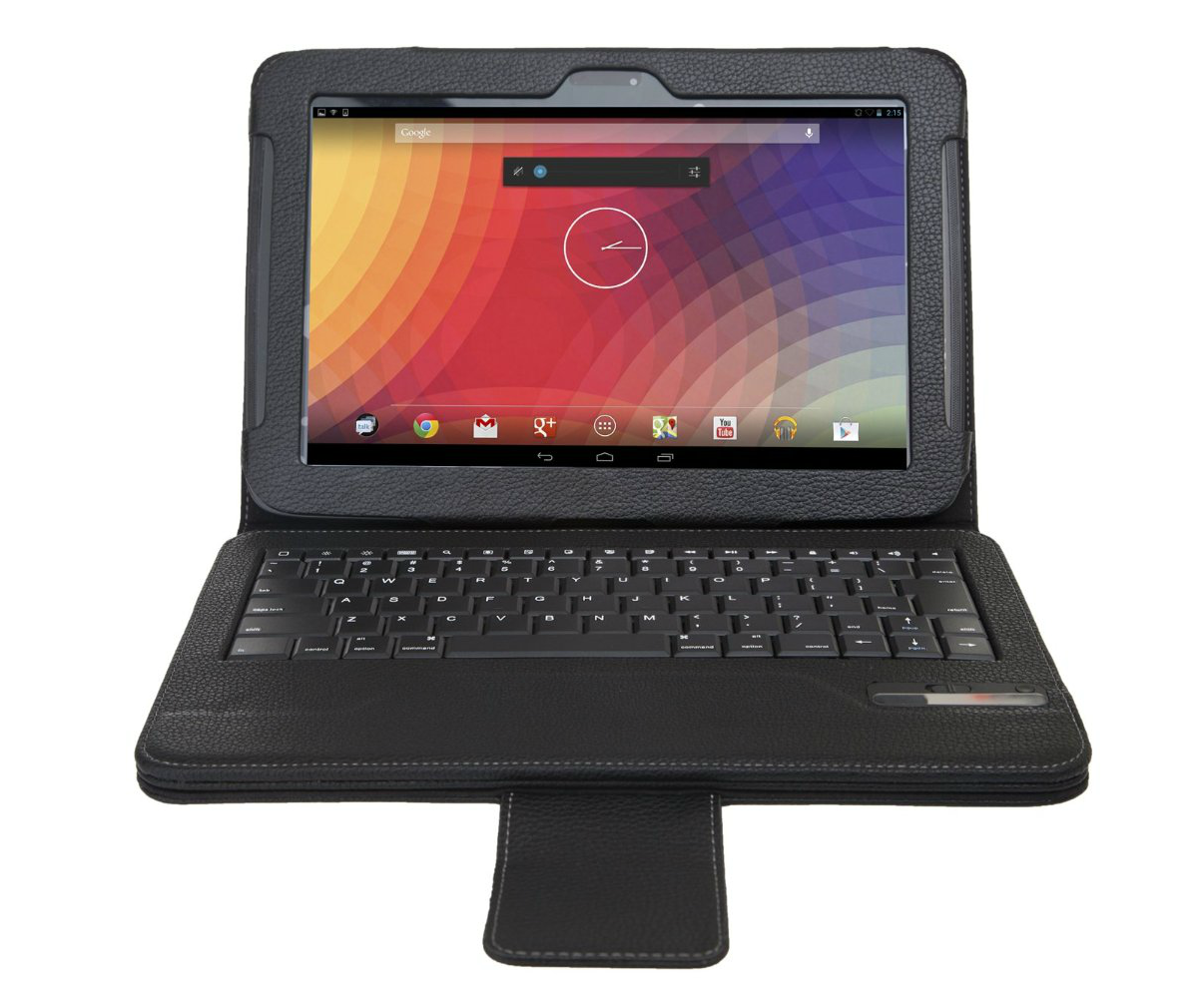 Bluetooth qwerty keyboard stand case for google nexus 10